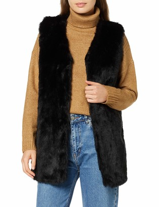 New Look Women's ASHANTI FAUX FUR GILET:1:S53 Regular Fit Gilet