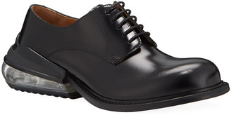 Maison Margiela Men's Airbag Clear-Heel Leather Derby Shoes