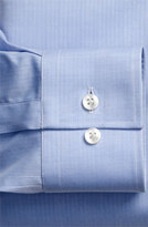 BOSS Men's 'Jenno' Slim Fit Herringbone Dress Shirt, Size 17 L - Purple