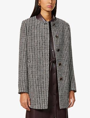 Sessun Dadi scoop-neck woven coat
