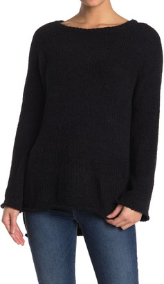 Love Lili Ribbed Knit Boat Neck Sweater