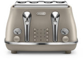 De'Longhi Delonghi Icona Elements 4 Slice Toaster Beige