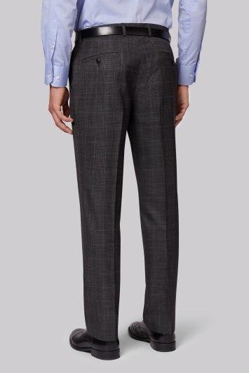 Moss Esq. Regular Fit Grey Check Pants