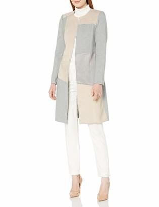 Calvin Klein Women's Mixed Fabric Topper
