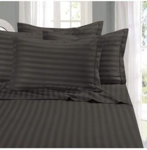 Elegant Comfort 6-Piece Luxury Soft Stripe Bed Sheet Set Queen Bedding