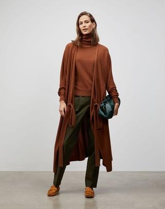 Lafayette 148 New York Plus-Size KindCashmere Dolman Sleeve Wrap Cardigan Dress