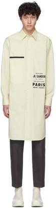 Jil Sander Off-White Printed Flyer Long Shirt