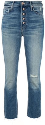 Mother Pixie Dazzler cropped jeans