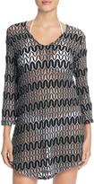 J Valdi Zigzag Crochet Tunic Cover-Up