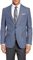 Ted Baker Men's Jay Trim Fit Windowpane Wool & Linen Sport Coat
