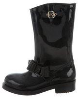 RED Valentino Bow Mid-Calf Rain Boots