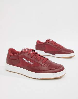 Reebok Club C 85 Essential Trainers In Red CM8792