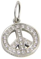Tiffany & Co. Mini Platinum 0.25 Ct Diamond Peace Sign Charm Pendant
