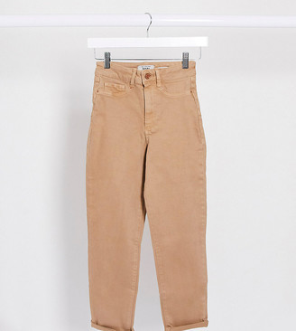New Look Petite mom jean in light mocha