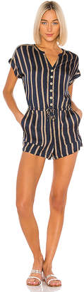 Chaser Drop Shoulder Drawstring Waist Romper