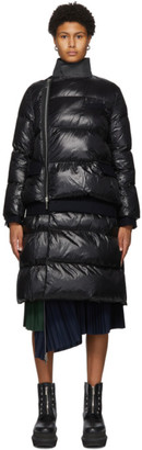 Sacai Black Quilted Long Puffer Coat
