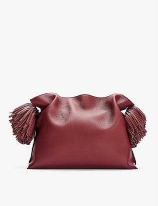 Loewe Flamenco tasselled leather clutch