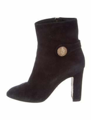 Dolce & Gabbana Suede Boots Black