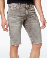 "True Religion Men's Gray Flap-Pocket Denim 13"" Shorts"