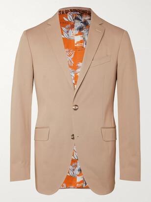 Etro Slim-Fit Paisley-Print Stretch-Cotton Twill Suit Jacket