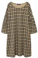Violeta BY MANGO Pleated sleeve checked dress