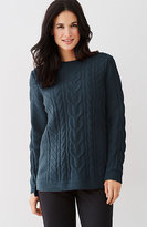 J. Jill Ultrasoft Chenille Cable Sweater