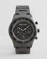 Police Driver Black Bracelet Watch