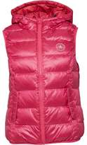 Converse Womens Core Padded Down Hooded Vest Gilet Cosmos Pink