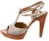 Bottega Veneta Intrecciato T-Strap Sandals