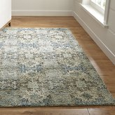 Crate & Barrel Alvarez Mineral Blue Wool-Blend Rug