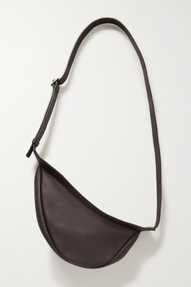 The Row Slouchy Banana Small Textured-leather Shoulder Bag - Merlot