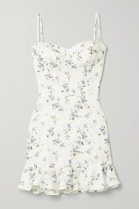 Reformation Mariana Floral-print Linen Mini Dress