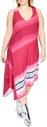 Rachel Roy Cami Scarf Midi Dress (Plus Size)