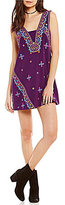Free People Never Been Mini Embroidered Mini Dress