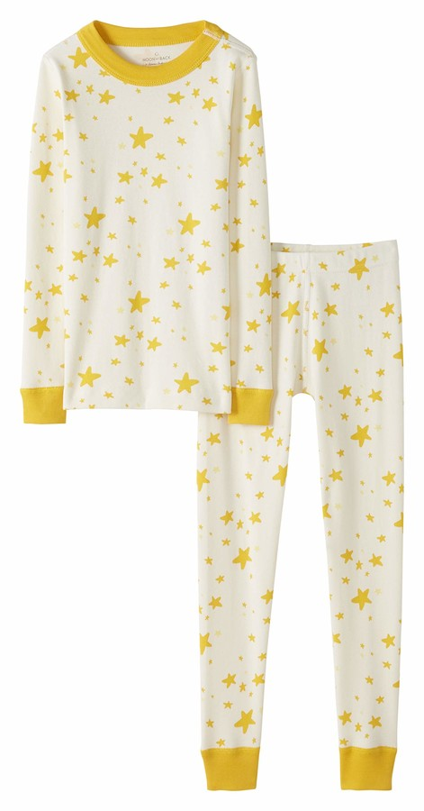 Moon and Back by Hanna Andersson Kids' Little 2 Piece Long Sleeve Pajama Set