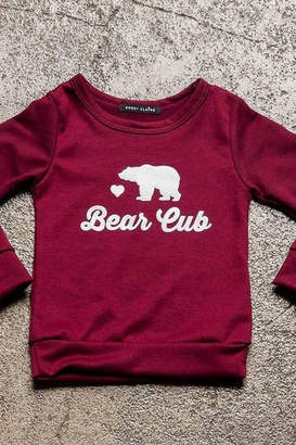 Sweet Claire Bear Cub French Terry Crew Neck