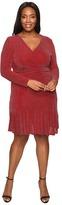 MICHAEL Michael Kors Size Long Sleeve Wrap Flounce Dress