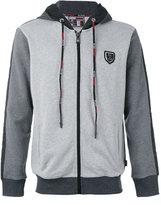 Plein Sport - colour blocked zip hoodie - men - Cotton/Polyester - S