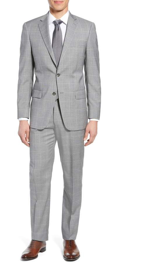 Hart Schaffner Marx New York Classic Fit Plaid Wool Suit