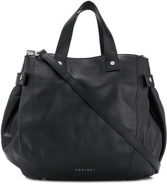 Orciani snap-fastening leather tote