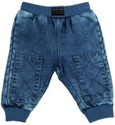 Little Marc Jacobs Faded Denim Effect Cotton Jogging Pants