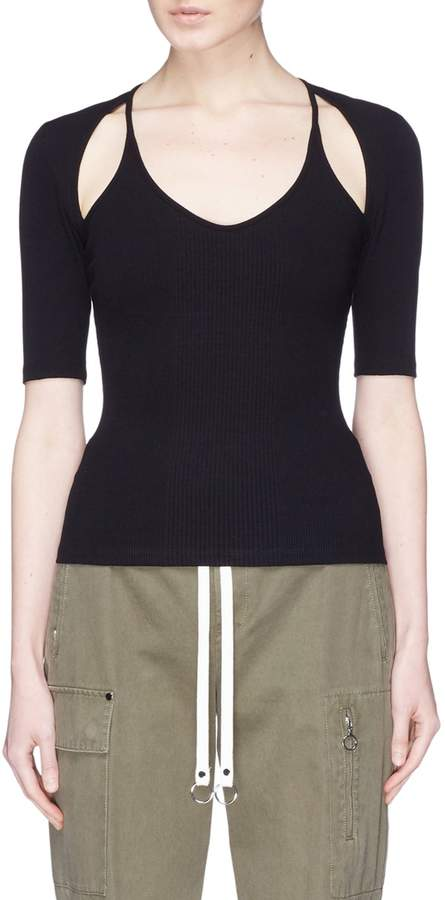 Alexander Wang Cutout shoulder knit top