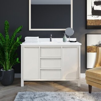 "Martha Stewart Perry St. Hudson 48"" Single Bathroom Vanity Set"