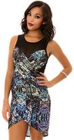 Style Stalker The Fractal Bodycon Dress in Rock Print