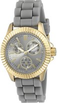Invicta 22100 Women's Angel Multi-Function Silicone And Dial Gold-Tone Case Watch