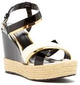 Lanvin Jute Braid Wedge Sandal