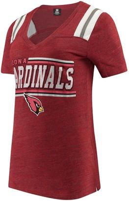 New Era Women's 5th & Ocean by Cardinal Arizona Cardinals Wordmark Tri-Blend V-Neck T-Shirt