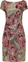 Adrianna Papell Floral Sequin Cocktail Dress