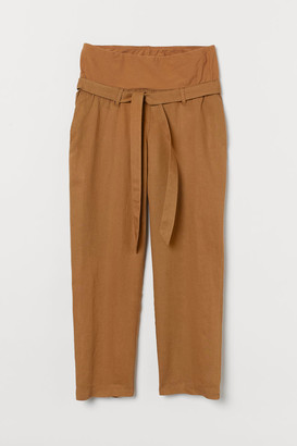 H&M MAMA Linen-blend trousers