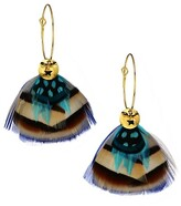 Thumbnail for your product : Gas Bijoux Bermudes 24K Goldplated & Feather Drop Earrings